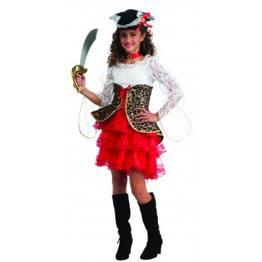 Girls Seven Seas Pirate Costume - HalloweenCostumes4U.com - Kids Costumes