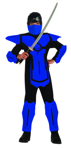 Boys Deluxe Blue Ninja Costume