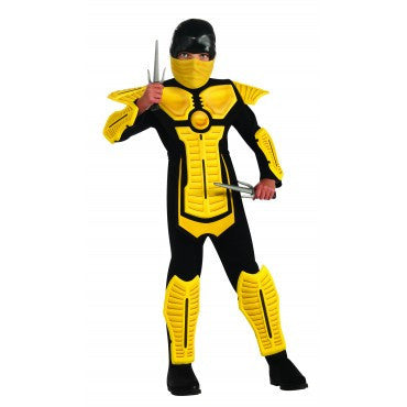 Boys Yellow Ninja Costume - HalloweenCostumes4U.com - Kids Costumes