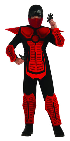 Boys Deluxe Red Ninja Costume