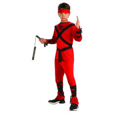 Boys Red Ninja Costume - HalloweenCostumes4U.com - Kids Costumes