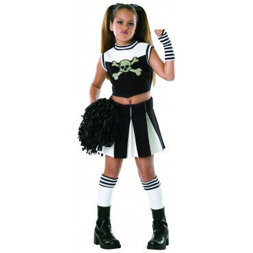 Girls Bad Spirit Cheerleader Costume - HalloweenCostumes4U.com - Kids Costumes