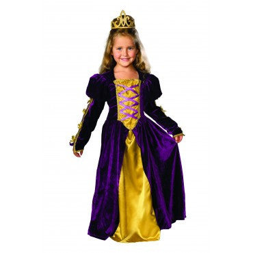Girls Deluxe Regal Queen Costume - HalloweenCostumes4U.com - Kids Costumes