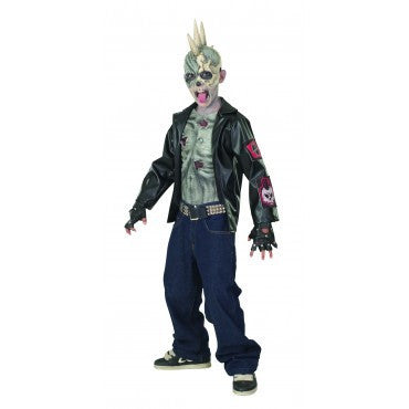 Boys Zombie Punk Costume - HalloweenCostumes4U.com - Kids Costumes