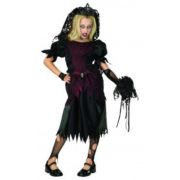 Girls Zombie Prom Queen Costume - HalloweenCostumes4U.com - Kids Costumes