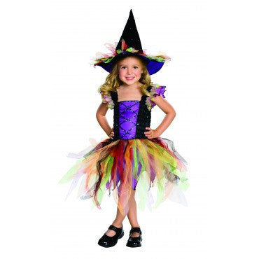 Girls Glitter Witch Costume - HalloweenCostumes4U.com - Kids Costumes
