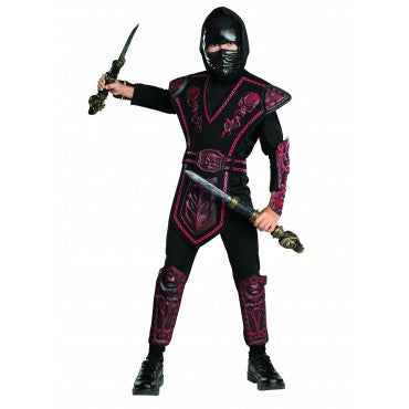 Boys Red Skull Warrior Ninja Costume - HalloweenCostumes4U.com - Kids Costumes