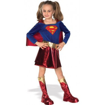 Girls Super-Girl Costume - HalloweenCostumes4U.com - Kids Costumes