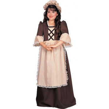 Girls Colonial Dress Costume - HalloweenCostumes4U.com - Kids Costumes