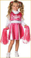 Girls Cheerleader Costume - HalloweenCostumes4U.com - Kids Costumes