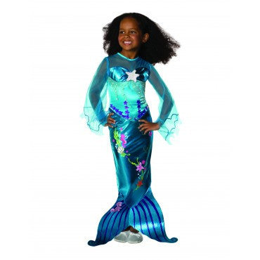 Girls Magical Mermaid Costume - HalloweenCostumes4U.com - Kids Costumes
