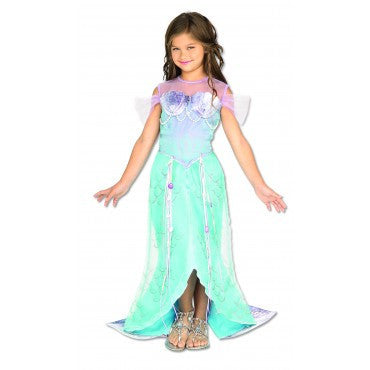 Girls Deluxe Mermaid Costume - HalloweenCostumes4U.com - Kids Costumes