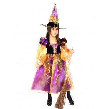 Girls Elegant Witch Costume - HalloweenCostumes4U.com - Kids Costumes