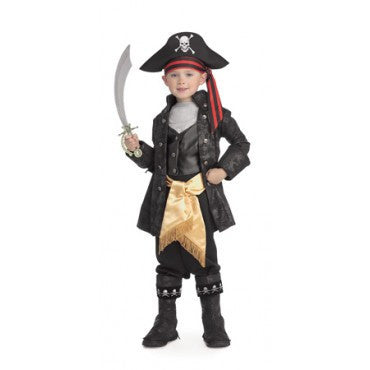 Boys Pirate Captain Black Costume - HalloweenCostumes4U.com - Kids Costumes
