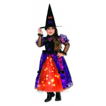 Girls Pretty Twinkle Witch Costume - HalloweenCostumes4U.com - Kids Costumes