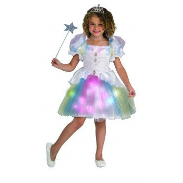 Girls Rainbow Ballerina Costume - HalloweenCostumes4U.com - Kids Costumes