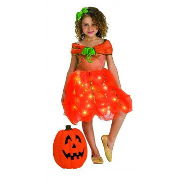 Girls Pumpkin Princess Costume - HalloweenCostumes4U.com - Kids Costumes