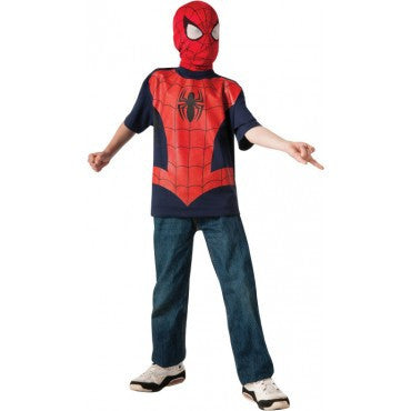 Boys Spider-Man T-Shirt and Mask - HalloweenCostumes4U.com - Kids Costumes