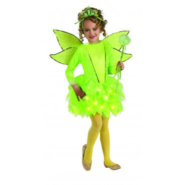 Girls Twinkling Tinkerbell Costume - HalloweenCostumes4U.com - Kids Costumes