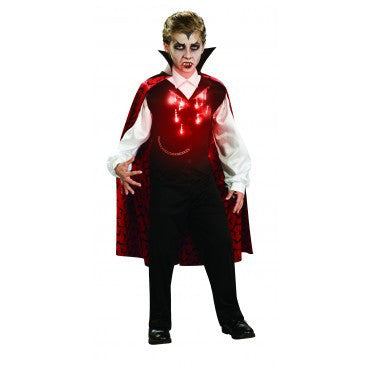 Boys Vampire Costume with Fiber Optic Lights - HalloweenCostumes4U.com - Kids Costumes