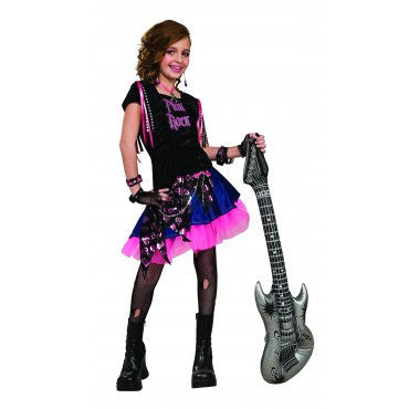Girls Pink Rock Girl Costume - HalloweenCostumes4U.com - Kids Costumes