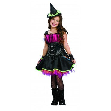 Girls Rockin' Witch Costume - HalloweenCostumes4U.com - Kids Costumes