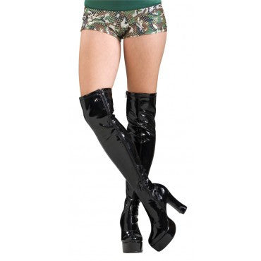 Black Thigh High Boots - HalloweenCostumes4U.com - Accessories