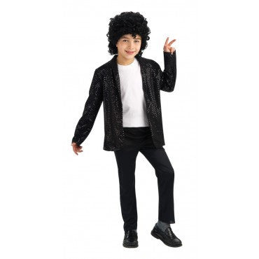 Boys Michael Jackson Deluxe Sequin Billie Jean Jacket - HalloweenCostumes4U.com - Kids Costumes