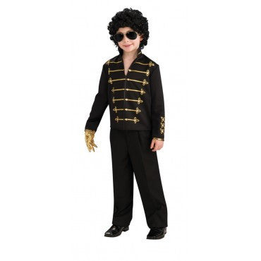 Boys Michael Jackson Black Military Jacket - HalloweenCostumes4U.com - Kids Costumes
