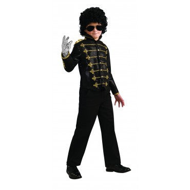 Boys Michael Jackson Deluxe Military Jacket - HalloweenCostumes4U.com - Kids Costumes