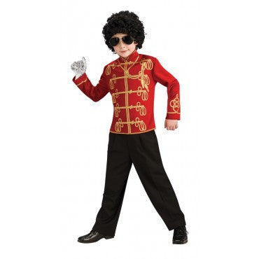 Boys Michael Jackson Red Military Jacket - HalloweenCostumes4U.com - Kids Costumes