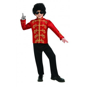 Boys Michael Jackson Deluxe Red Military Jacket - HalloweenCostumes4U.com - Kids Costumes
