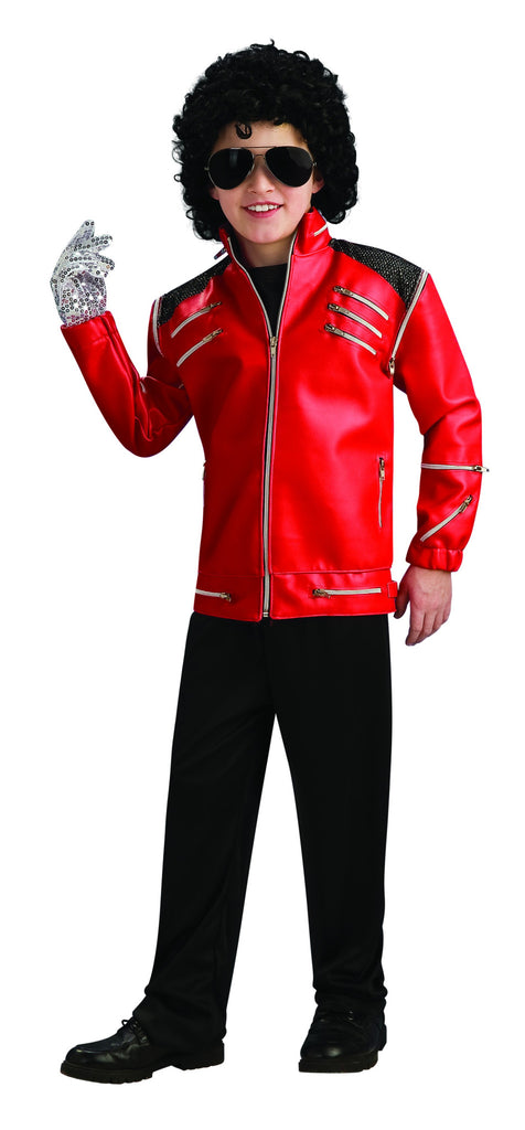 Boys Deluxe Michael Jackson Red Zipper Jacket - HalloweenCostumes4U.com - Kids Costumes
