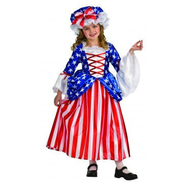 Girls Betsy Ross Costume - HalloweenCostumes4U.com - Kids Costumes