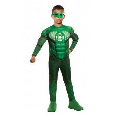 Boys Green Lantern Deluxe Light Up Hal Jordan Costume - HalloweenCostumes4U.com - Kids Costumes