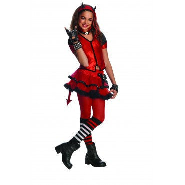 Girls Devilish Costume - HalloweenCostumes4U.com - Kids Costumes