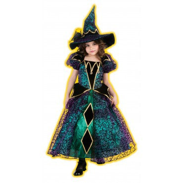Girls Radiant Witch Costume - HalloweenCostumes4U.com - Kids Costumes