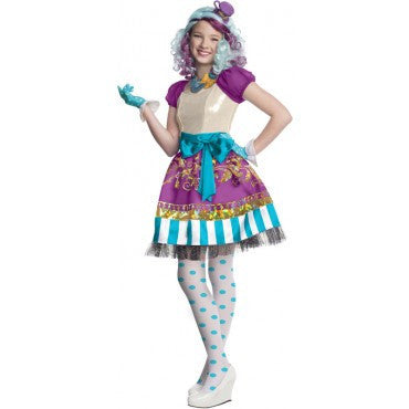Girls Ever After High Deluxe Madeline Hatter Costume - HalloweenCostumes4U.com - Kids Costumes