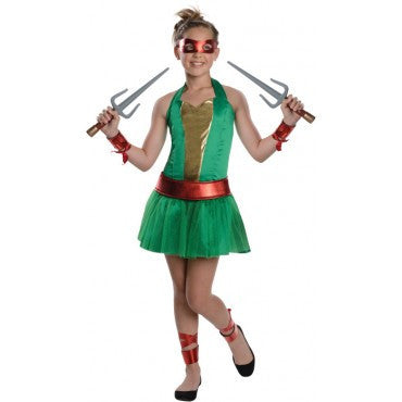 Teens Ninja Turtle Raphael Dress - HalloweenCostumes4U.com - Adult Costumes