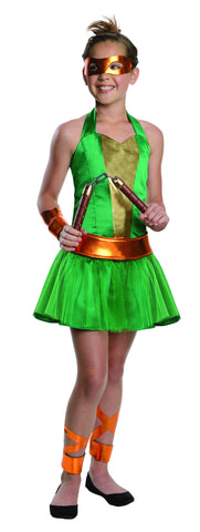 Teens Ninja Turtles Michelangelo Dress - HalloweenCostumes4U.com - Adult Costumes