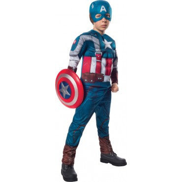 Boys Retro Captain America Costume - HalloweenCostumes4U.com - Kids Costumes