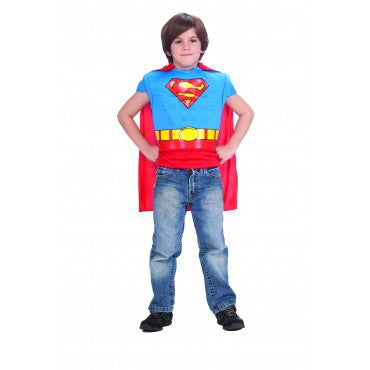 Boys Superman Muscle Chest Shirt - HalloweenCostumes4U.com - Kids Costumes