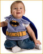 Infants Deluxe Batman Bib and Cape - HalloweenCostumes4U.com - Infant & Toddler Costumes
