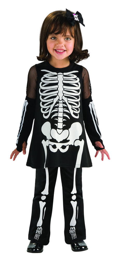 Toddlers Skeleton Girl Costume - HalloweenCostumes4U.com - Infant & Toddler Costumes