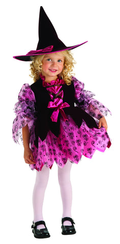Toddlers Pink Witch Costume - HalloweenCostumes4U.com - Infant & Toddler Costumes