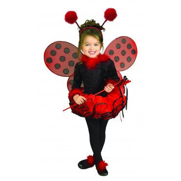Girls Deluxe Ladybug Costume - HalloweenCostumes4U.com - Kids Costumes
