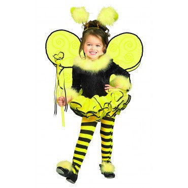 Girls Bumble Bee Costume - HalloweenCostumes4U.com - Kids Costumes