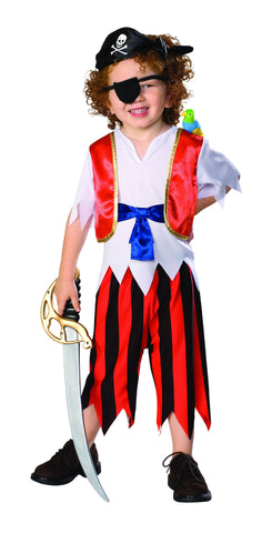 Toddlers Caribbean Pirate Costume - HalloweenCostumes4U.com - Infant & Toddler Costumes