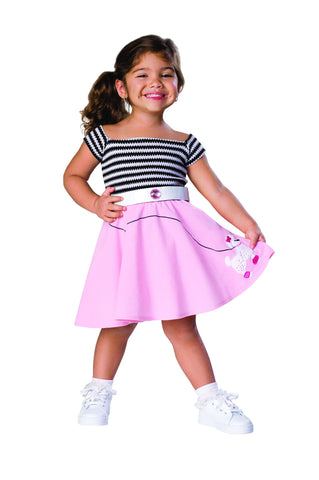 Toddlers 50s Girl Costume - HalloweenCostumes4U.com - Infant & Toddler Costumes
