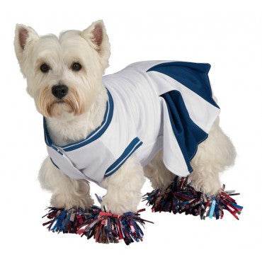 Pets Blue Cheerleader Costume - HalloweenCostumes4U.com - Pet Costumes & Accessories
